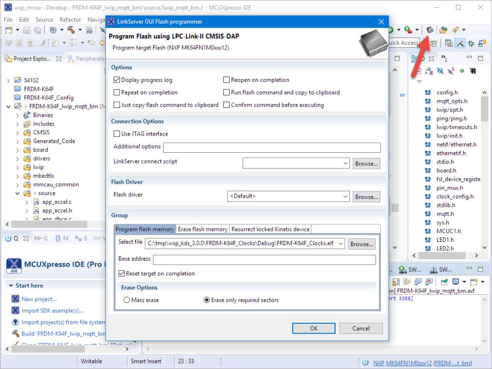 LinkServer GUI Flash Programmer