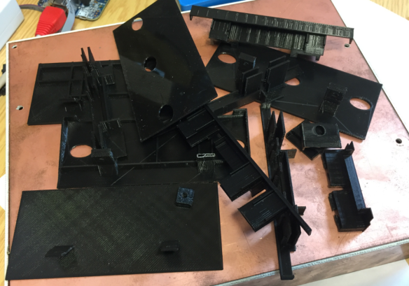 Pile of 3D testing parts