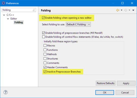 Hiding Inactive Preprocessor Branches