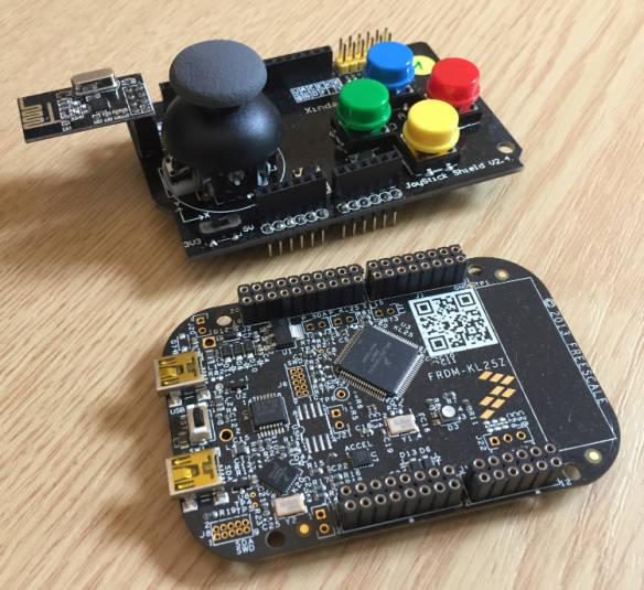 NXP FRDM-KL25Z with Joystick Shieldv