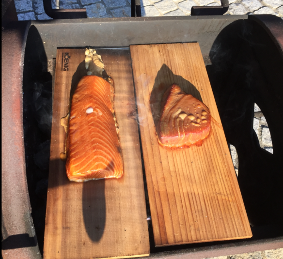 Salmon and Tuna in the Fire Box