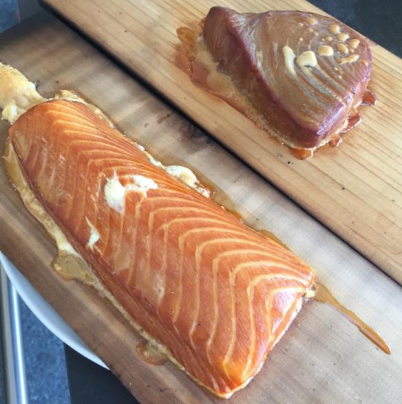 smoked salmon and tuna