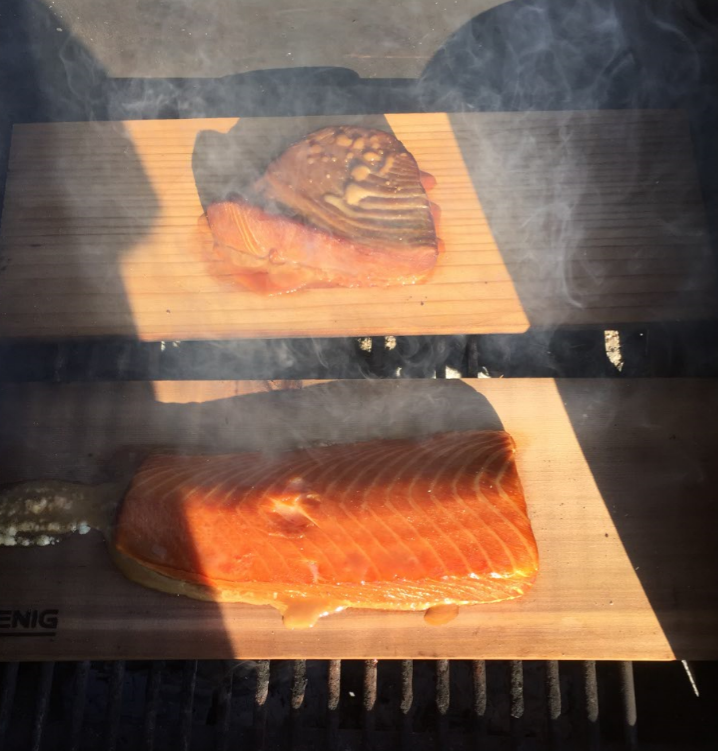 Smoked soy brined salmon and tuna mcu on eclipse for Smoking fish in a smoker