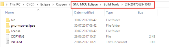 GNU Eclipse Build tools