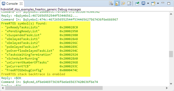 LinkServer Debug Messages