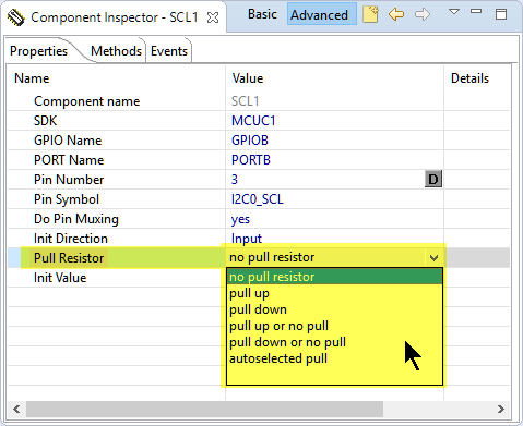 SDK_BitIO Pull Resistor Settings