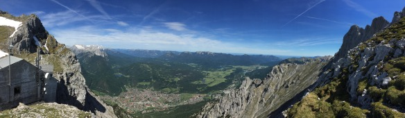 View down to Mittenwald from Karwendel