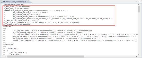 Linker File Variables in KDS Linker file