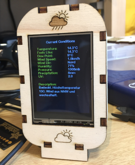 ESP8266 Weather Station Current Conditions