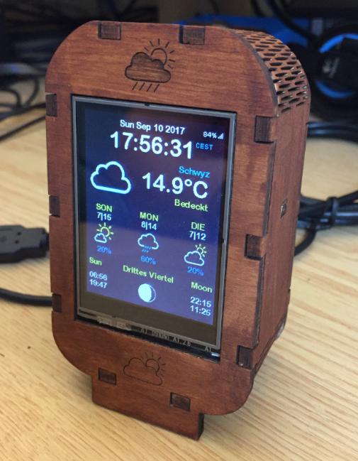 LCD Weatherstation with ESP8266