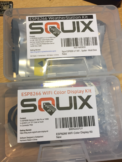 Squix ESP8266 Weather Station Kits