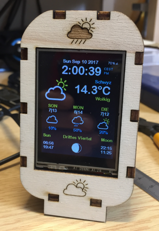 WiFi TFT Touch LCD Weather Station with ESP8266 | MCU on Eclipse