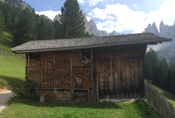 Barn with Firewood