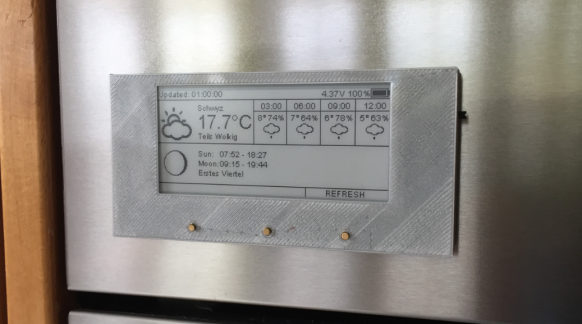 ESP8266-Based E-Paper Wi-Fi Weather Station - DZone IoT
