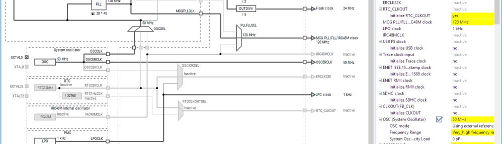 Clock Tool inside MCUXpresso IDE