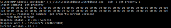 blhost with USB HID Bootloader