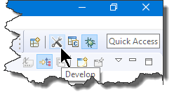 Eclipse Perspective Toolbar