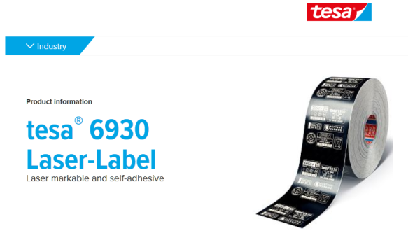 Tesa Laser Label