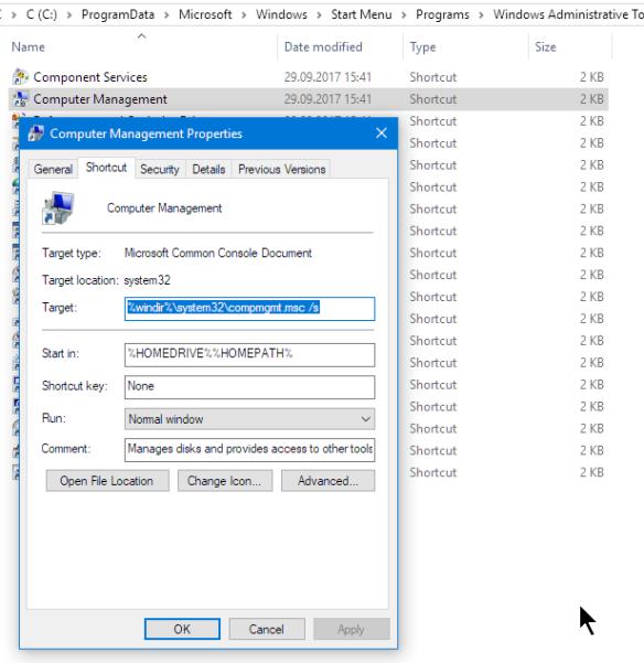 Computer Management Console Location