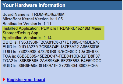 SDA_INFO with loaded Firmware