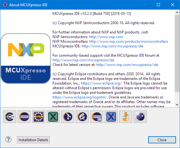 MCUXpresso IDE V10.2.0 Build