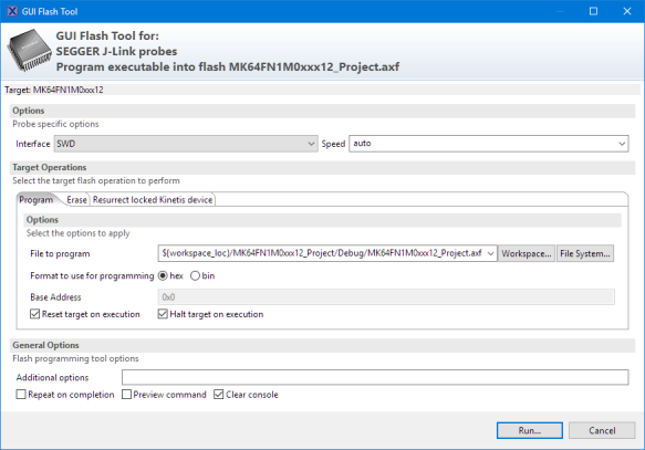 Segger GUI Flash Tool
