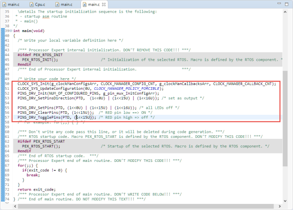 Added Code to main