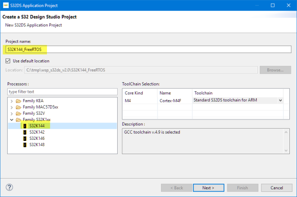 Create a S32 DS Project