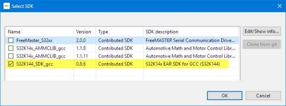 S32K144 SDK