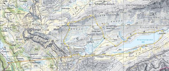 Glattalp Map