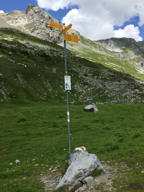 Sign Post at the End of Glattalpsee