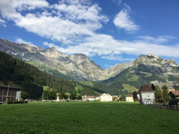Engelberg with view to Nünalphorn