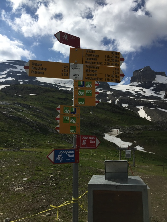 sign post at Jochpass