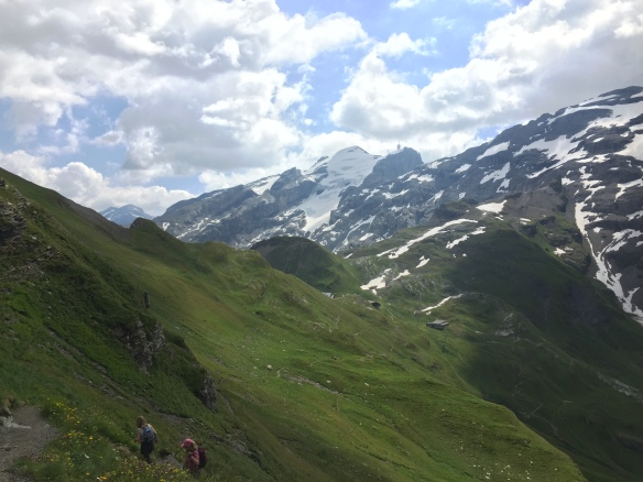 View back to Mt. Titlis
