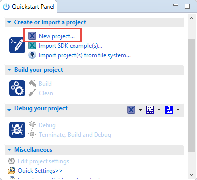 Quickstart new Project