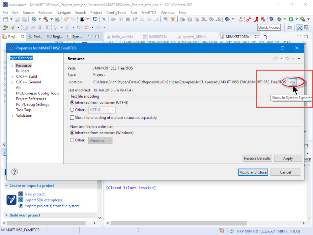 Show in System Explorer
