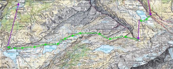 Trüebsee - Engstlensee - Tannensee - Melchsee