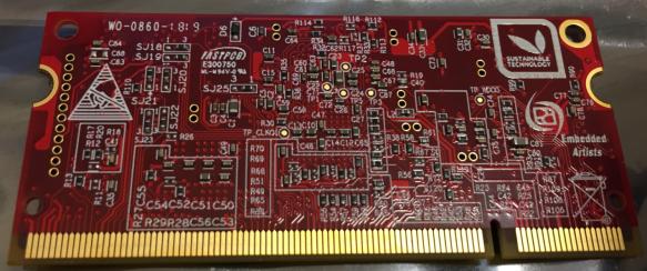 Embedded Artist NXP i.MX RT1052 OEM Board Bottom Side
