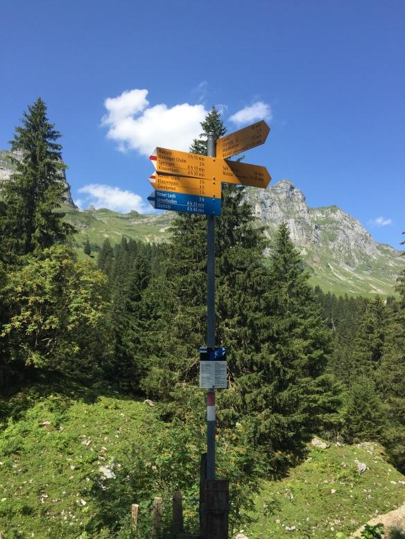 Signpost to Glattalp