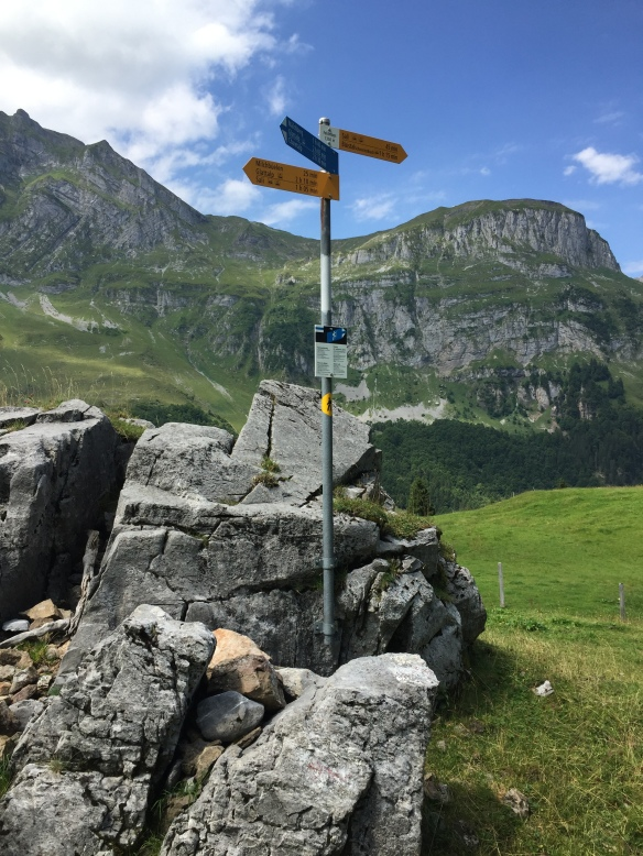 Signpost at Feldmoos