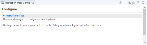 Instruction Trace Config View