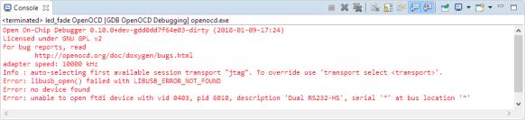 OpenOCD Problem