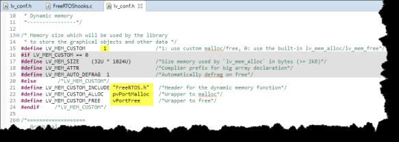 Using FreeRTOS memory allocation