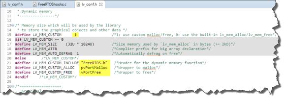 Using FreeRTOS memory allocation