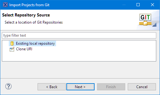 Select Repository Source