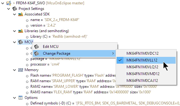 Changing CPU Package Option