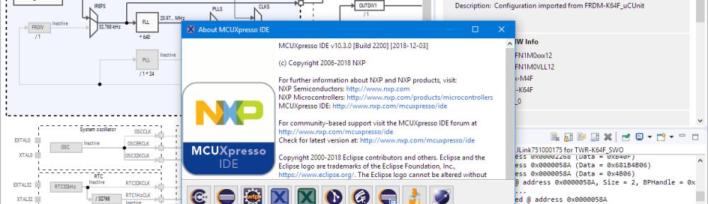 MCUXpresso IDE V10.3.0