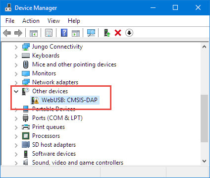 WebUSB in Device Manager