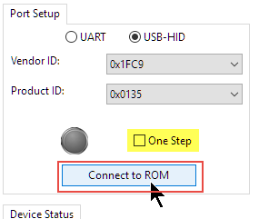 Connect to ROM