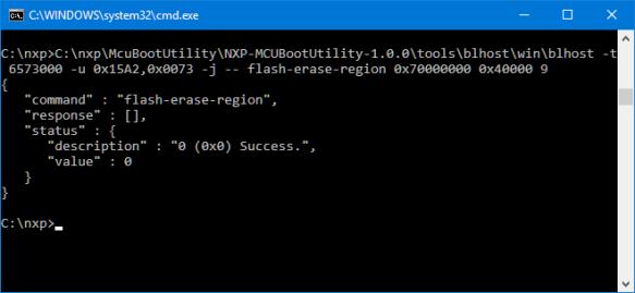 Executing Flash Erase from Cmd.exe